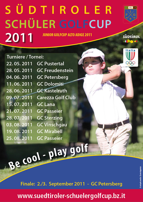 plakat 2011 - Junior Golf Cup - -