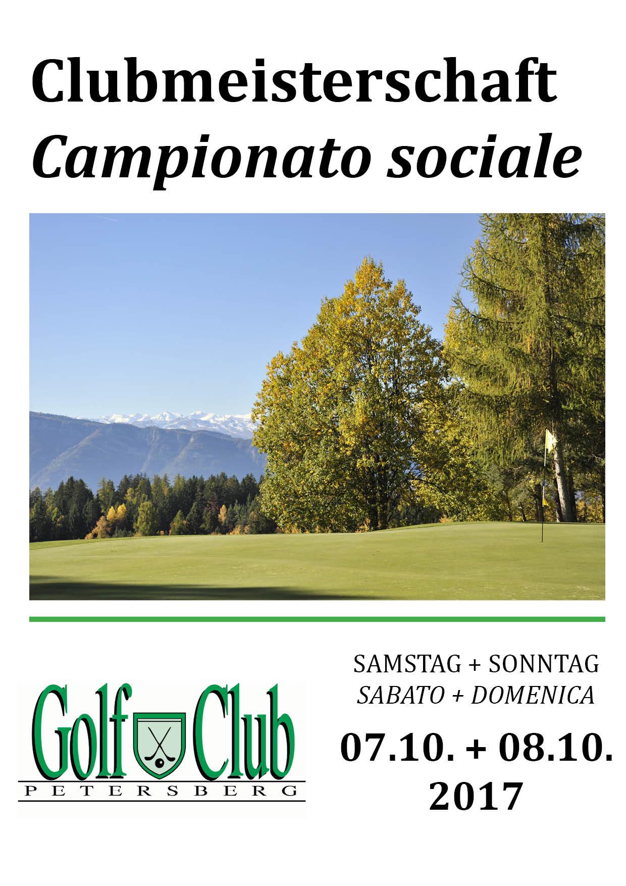 CLUBMEISTERSCHAFT - CAMPIONATO SOCIALE Clubmeisterschaft 2017 1