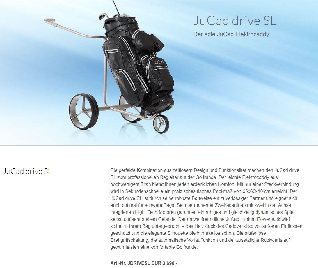 Jucad Drive SL 2 - Pro Shop - -