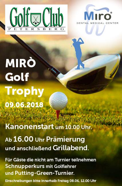 MIRO GOLF TROPHY 2018 EINLADUNG Mirò Golf Trophy 09 06 18