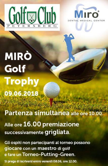 MIRO GOLF TROPHY 2018 INVITO Mirò Golf Trophy 09 06 18