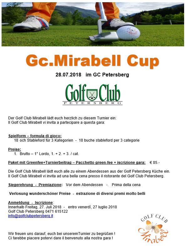 MIRABELL GOLF TROPHY Mirabell Trophy