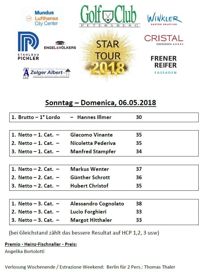 STAR TOUR 2018 - The first Star Tour 1 Preise