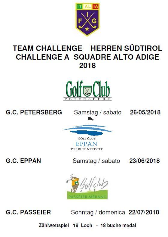 TEAM CHALLENGE 2018 Team Challenge 2018