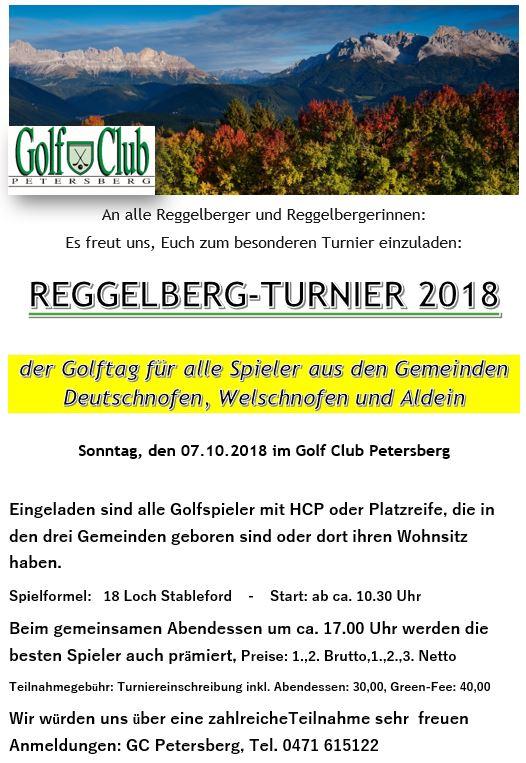 REGGELBERGER GOLFTAG Reggelberg Turnier 2018