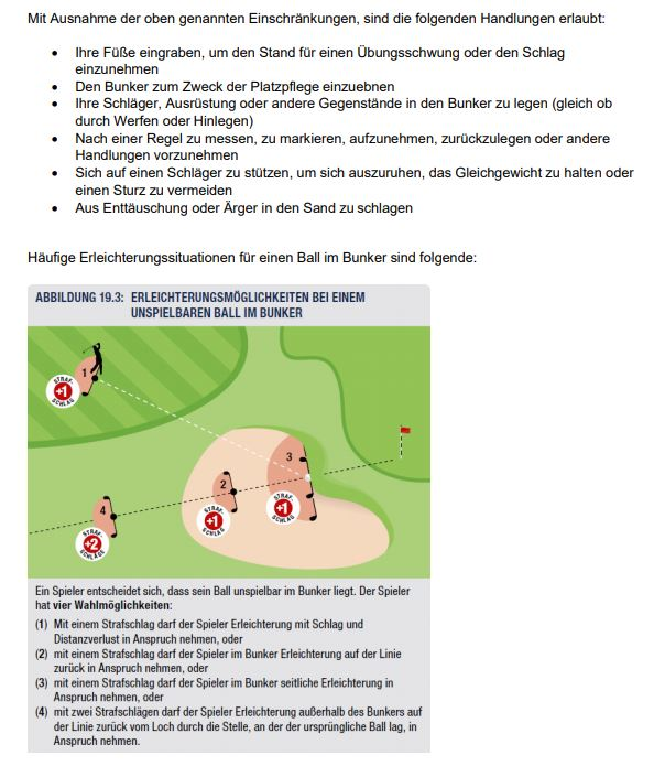Regelaenderungen 2019 11 - Regeln und Platzregeln
