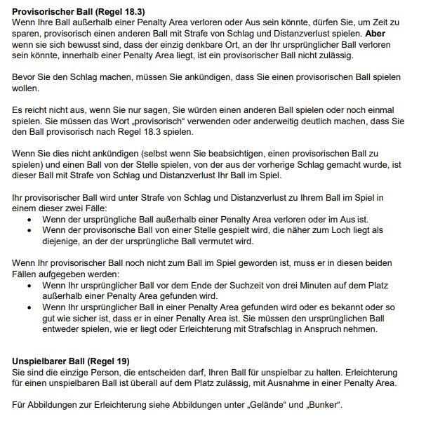 Regelaenderungen 2019 21 - Regeln und Platzregeln - -