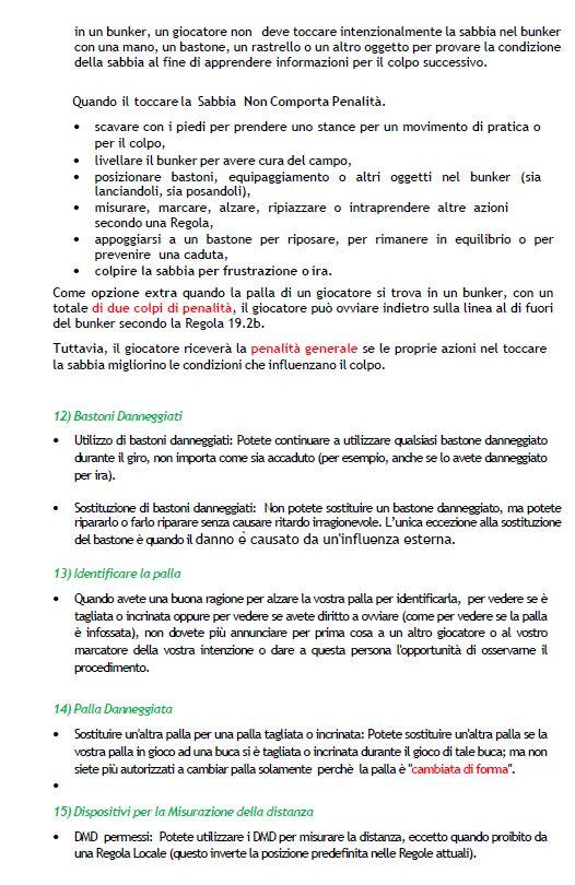 SZR Cambiamenti 3 - Regole e regole locali - -