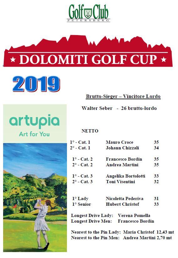 DOLOMITI GOLF CUP Dolomiti Golf Cup 2019 premiati