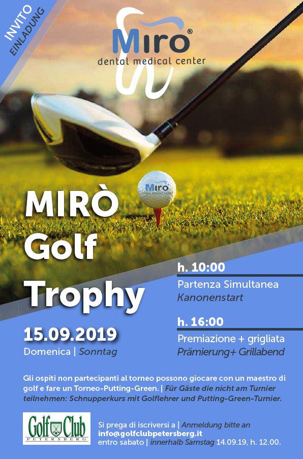 MIRO GOLF TROPHY Miro Einladung invito