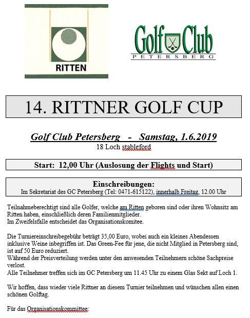 14. RITTNER TURNIER Rittner Turnier