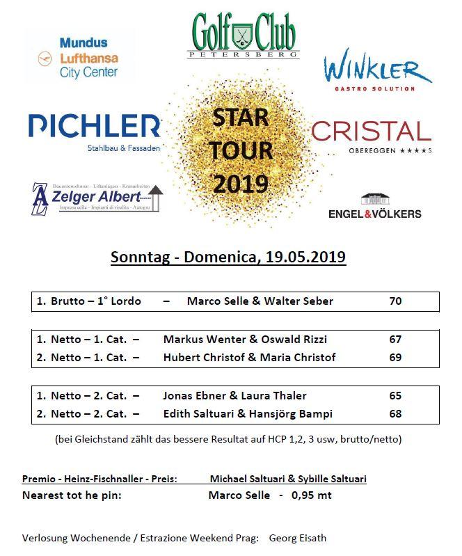 STAR TOUR 2019 - 4-ball-best-ball Star Tour 2 premiati