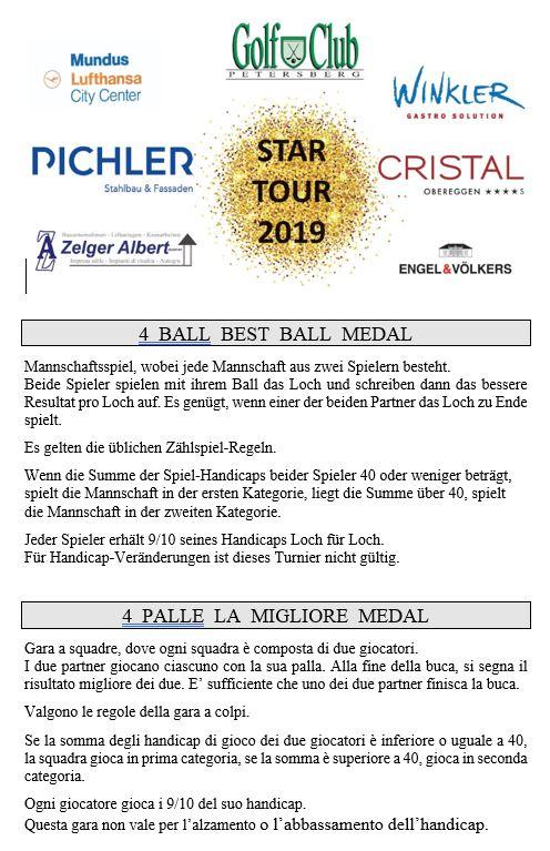 STAR TOUR 2019 - 4-ball-best-ball Star Tour 2019 4 ball