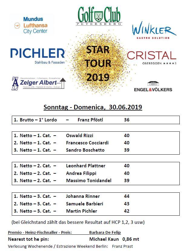 STAR TOUR - FINALE Star Tour 4 premiati