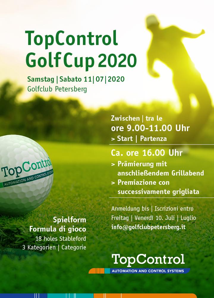 TOP CONTROL GOLF TROPHY Einladung Invito TopControl GolfCup 2020