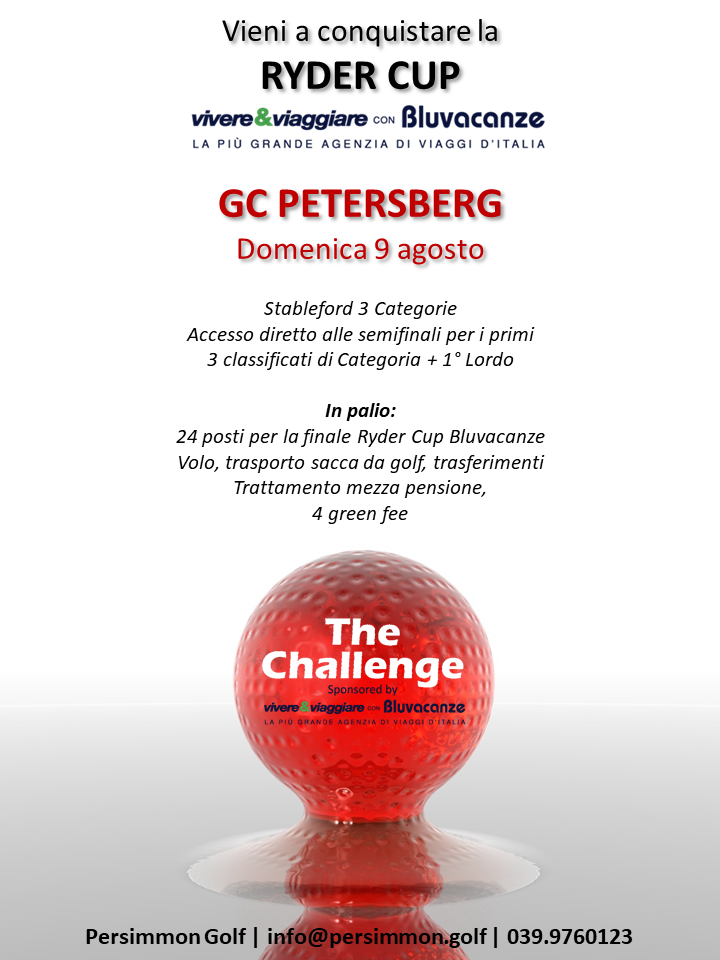 THE CHALLENGE BY BLUVACANZE The Challenge PETERSBERG