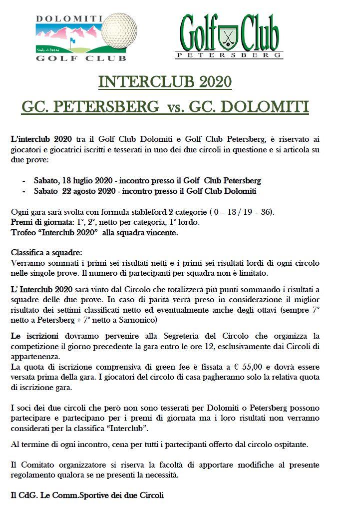 INTERCLUB PETERSBERG / DOLOMITI Interclub 1