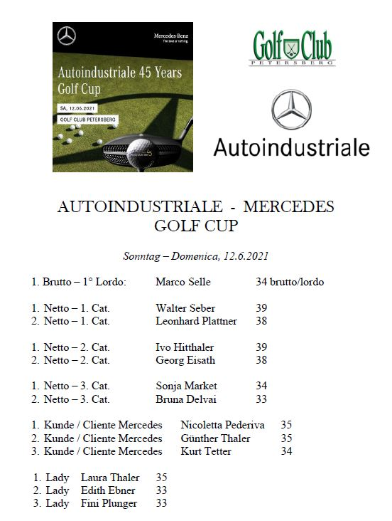 MERCEDES TROPHY - AUTOINDUSTRIALE Mercedes premiati